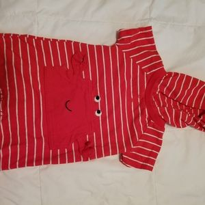 Carter's Crab, Red/White Stripe Jumpsuit